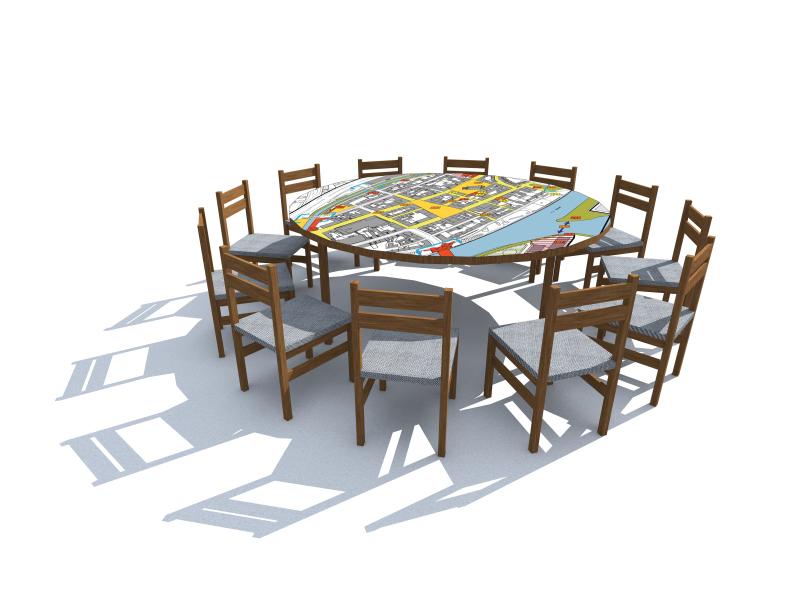 runder tisch mit sthlen awesome ein runder esstisch ist. Black Bedroom Furniture Sets. Home Design Ideas