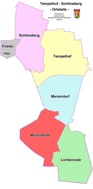 Karte Berlin Lichtenrade.Ortsteile In Tempelhof Schoneberg Karte Berlin De