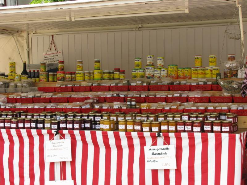 Wochenmarkt Tempelhof-Schöneberg Marmeladenstand
