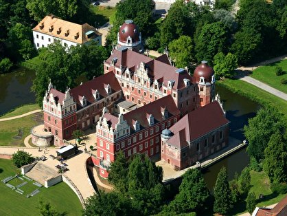 niederlausitz 8 p ckler schloss in bad muskau von oben. Black Bedroom Furniture Sets. Home Design Ideas