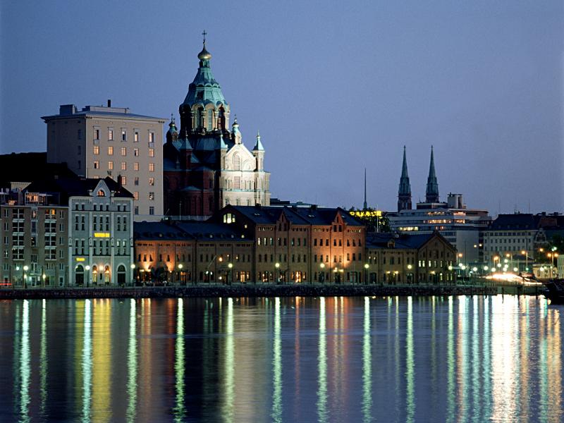 Finnische Hafenstadt