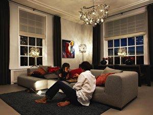 Wohnzimmer: Mehrere Lichtquellen Schaffen Gemütlichkeit