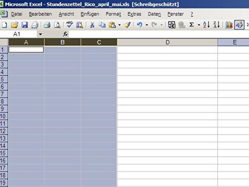 Mehrere Excel-Spalten gleichzeitig anpassen – Berlin.de