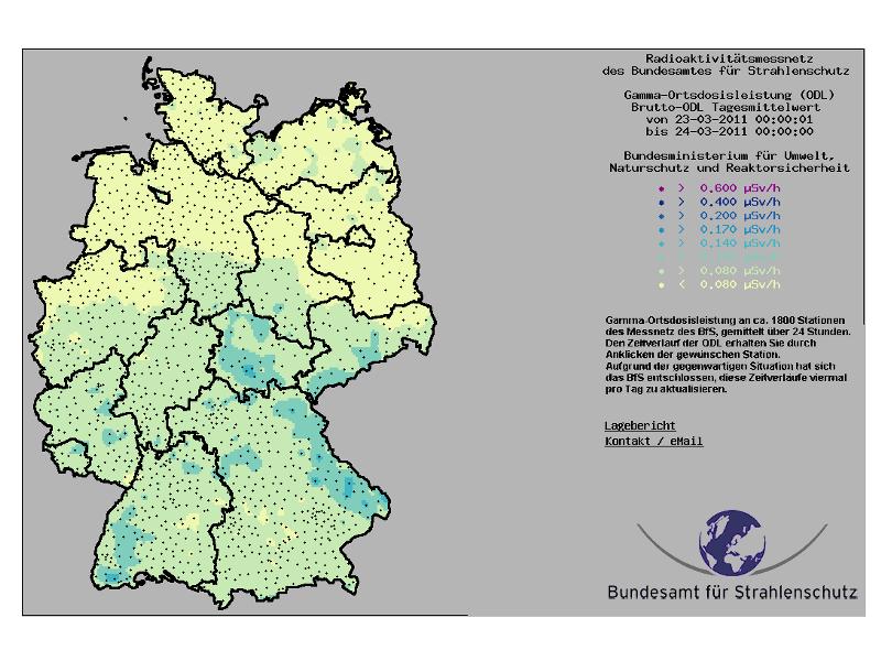 karte radioaktivität deutschland Radioaktiviät: Amtliche Messungen online einsehen – Berlin.de