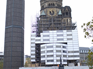 Bauhaus Weihnachtsbeleuchtung.Kaiser Wilhelm Memorial Church Berlin De