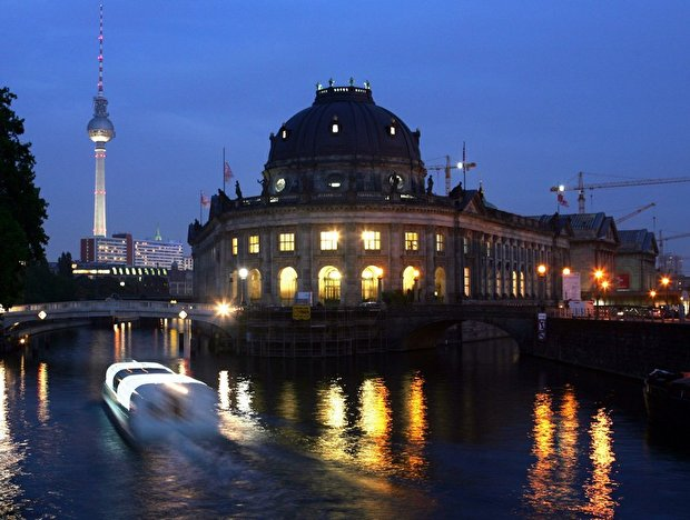 Museumsinsel in Berlin am Abend