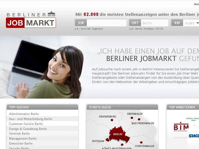 neuer jobmarkt listet jobs in berlin. Black Bedroom Furniture Sets. Home Design Ideas
