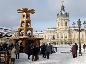 Christmas market in front of Castle Charlottenburg in Berlin