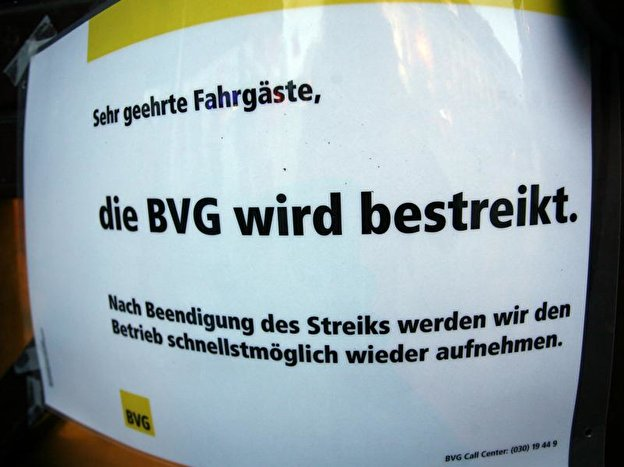Strike at the BVG on 1 April 2019