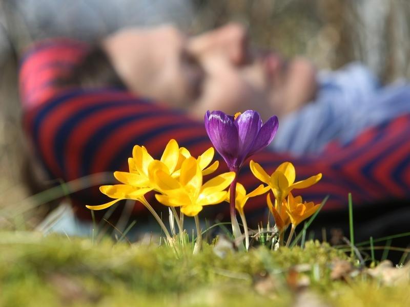 Frühlingsgefühle flirten