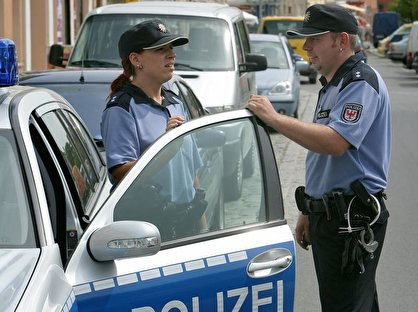 Polizeibeamten in Brandenburg