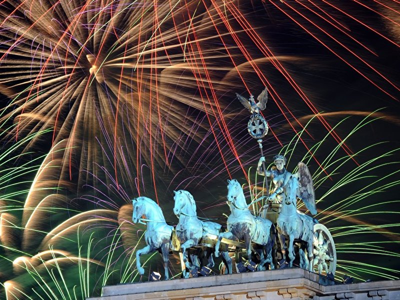 New Year's Eve Party at Brandenburg Gate