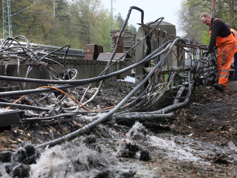 Bekenntnis aus linker Szene zu Brandanschlag an Berliner Bahnstrecke