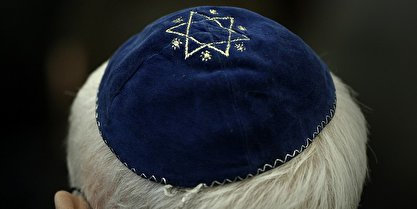 Jewish Berlin man with kippa