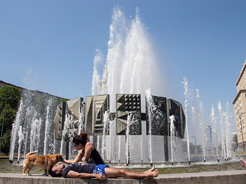 Hot summer temperatures in Berlin