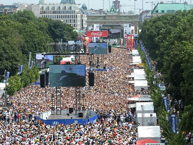 Fan Fest Berlin at Brandenburg Gate
