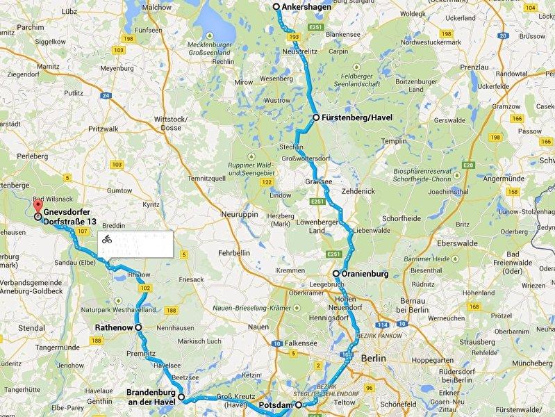 Radweg Mecklenburgische Seenplatte Karte.Havel Radweg Berlin De