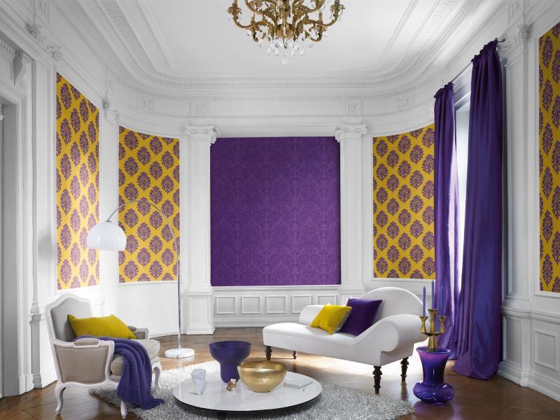 mustertapeten stilvoll kombinieren auf die farben kommt es an. Black Bedroom Furniture Sets. Home Design Ideas