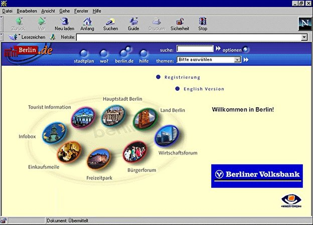 Screenshot Berlin.de Homepage 1998