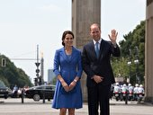 William und Kate am Brandenburger Tor