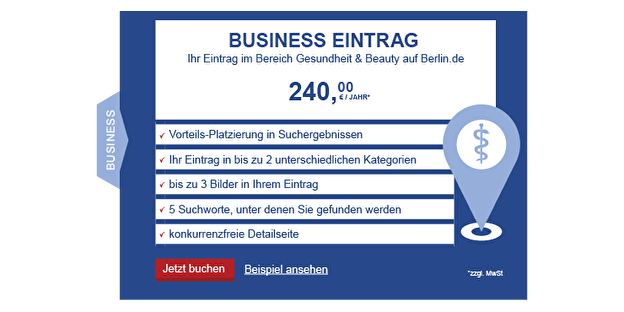 BerlinFinder Bereich Gesundheit & Beauty Business
