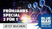 Blue Man Group: Special-Angebot