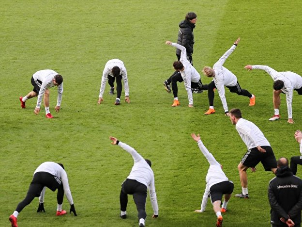 Training der Nationalmannschaft