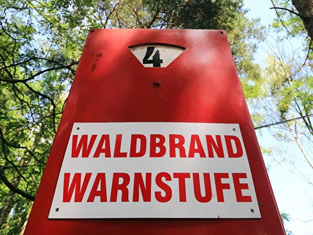 Waldbrand-Warnstufe
