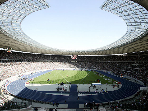 The Berlin Olympic Stadium during the ISTAF