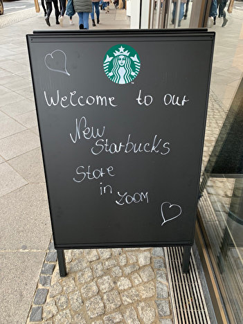 Starbucks im Zoom