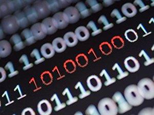 Blick auf einen Binärcode
