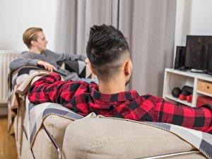 Fernsehen in Studenten-WG