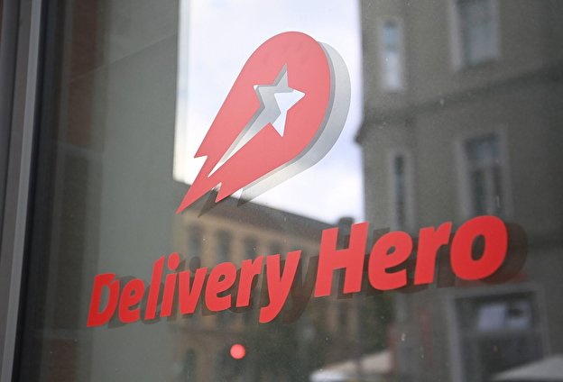 The Delivery Hero logo.