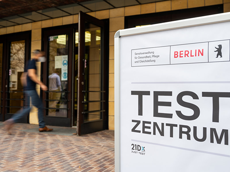 Free rapid tests in 16 test centres from Monday
