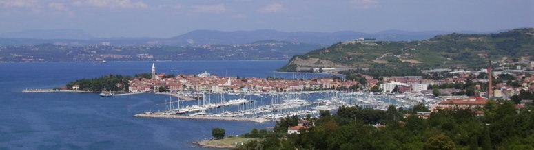 Bildausschnitt der Stadt Izola