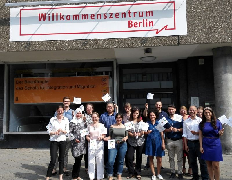 Il team del Welcome Center di Berlino