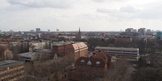 Ausblick von Haus A auf das LAGeSo-Gelände
