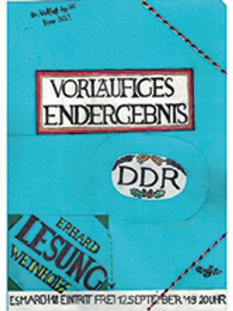 Bildvergrößerung: Buchcover: Vorläufiges Endergebnis – DDR