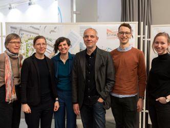Das Team des Siegerentwurfs: SMAQ, Man Made Land und Barbara Schindler