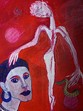Bildvergrößerung: Margit Grüger: Der Geist der Rose begegnet Nijinsky