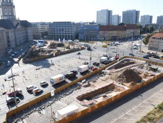 Grabung Molkenmarkt, Blick vom Turm des Roten Rathauses