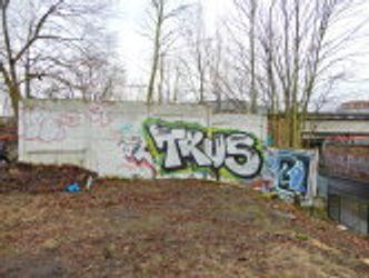 Bildvergrößerung: Teil der Berliner Mauer (Hinterlandsicherungsmauer), Pankow