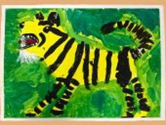 Bildvergrößerung: Tiger, gemalt von Kolja