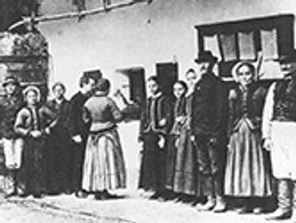Bildvergrößerung: Bartók phonographiert Volkslieder (1907)