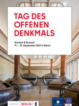 Cover Programmheft Tag des offenen Denkmals 2021 in Berlin