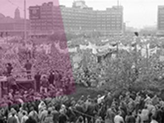 Bildvergrößerung: Großdemonstration am 4. November 1989 am Alexanderplatz