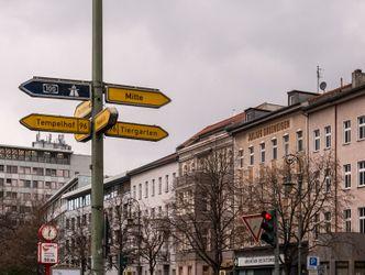 Straßenschilder an einer Kreuzung