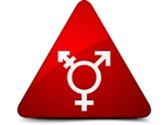 Bildvergrößerung: Rotes Dreieck mit verschiedenen Geschlechtersymbolen