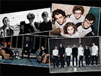 Bildvergrößerung: 4 Bands im 8-Eck, Collage