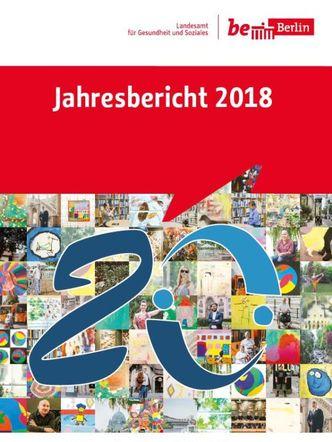 Cover vom Jahresbericht 2018 mit dem Motto 20 Jahre der Mensch im Fokus
